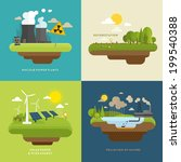 ecology concept vector icons... | Shutterstock .eps vector #199540388