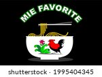 a delicious bowl of chicken...   Shutterstock .eps vector #1995404345