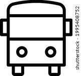 school bus vector thin line icon   Shutterstock .eps vector #1995408752