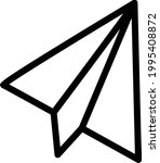 paper plane vector thin line...   Shutterstock .eps vector #1995408872
