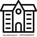 school vector thin line icon   Shutterstock .eps vector #1995408995