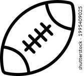 rugby vector thin line icon   Shutterstock .eps vector #1995409025