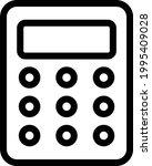 calculation vector thin line...   Shutterstock .eps vector #1995409028