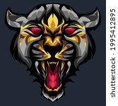 roaring lion head mascot ...   Shutterstock .eps vector #1995412895