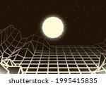 retro dotwork landscape with...   Shutterstock .eps vector #1995415835