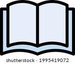 book reading vector line colour ...   Shutterstock .eps vector #1995419072