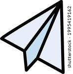 paper plane vector line colour...   Shutterstock .eps vector #1995419162
