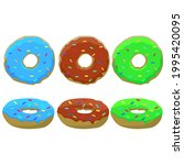 set of donuts drawing  vector... | Shutterstock .eps vector #1995420095