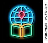 atlas geographic map book neon... | Shutterstock .eps vector #1995420875