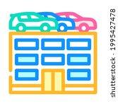 building car parking color icon ...   Shutterstock .eps vector #1995427478