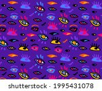 bright colorful doodle eyes... | Shutterstock .eps vector #1995431078