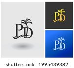 initial pd monogram logo with...   Shutterstock .eps vector #1995439382