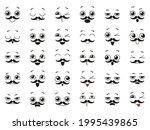 set of cute kawaii emoticon... | Shutterstock .eps vector #1995439865