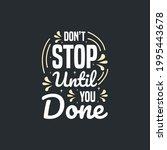 motivational lettering...   Shutterstock .eps vector #1995443678