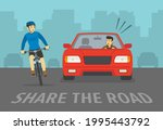 scared cyclist turned his head... | Shutterstock .eps vector #1995443792