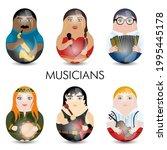 modern kawaii dolls for your... | Shutterstock .eps vector #1995445178