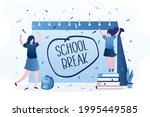 paper schedule with text  ... | Shutterstock .eps vector #1995449585