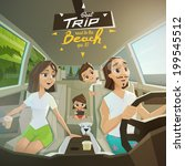 characters in road vector... | Shutterstock .eps vector #199545512