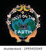 70's retro groovy slogan print... | Shutterstock .eps vector #1995455345