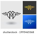 letter m logo with wings....   Shutterstock .eps vector #1995465368