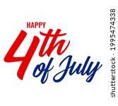 happy 4th of july usa...   Shutterstock .eps vector #1995474338