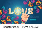 love cartoon landing page with... | Shutterstock .eps vector #1995478262