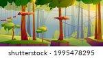 adventure park  rope climbing... | Shutterstock .eps vector #1995478295
