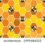 cute bees on the background of ...   Shutterstock .eps vector #1995484325
