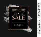 grand sale sign over art paint...   Shutterstock .eps vector #1995491822