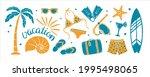 set of textured summer holidays ... | Shutterstock .eps vector #1995498065