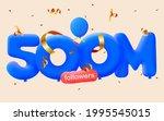 500m followers thank you 3d... | Shutterstock .eps vector #1995545015