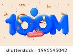 100m followers thank you 3d... | Shutterstock .eps vector #1995545042