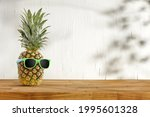 Summer Background Of Desk With...