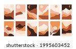 abstract landscape. vector set... | Shutterstock .eps vector #1995603452