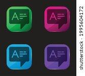 answer four color glass button...