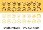 emoji emoticons set isolated....