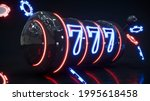 casino neon background with...   Shutterstock . vector #1995618458