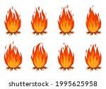 bonfire animation. cartoon...