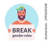 break gender roles. gender...   Shutterstock .eps vector #1995634148
