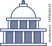 federal buildings walking tour... | Shutterstock .eps vector #1995636125