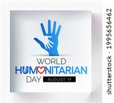 world humanitarian day  whd  is ...   Shutterstock .eps vector #1995656462