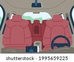 empty car cabin or interior... | Shutterstock .eps vector #1995659225