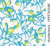 blue floral brush strokes... | Shutterstock .eps vector #1995765188