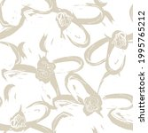 brown floral brush strokes... | Shutterstock .eps vector #1995765212