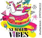 typography cartoon summer... | Shutterstock .eps vector #1995766112