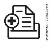 medical record line art vector... | Shutterstock .eps vector #1995808445
