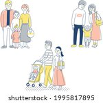 3 sets of young families   Shutterstock .eps vector #1995817895