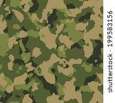 green woodland seamless camo... | Shutterstock .eps vector #199583156