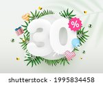 30 percent off. discount... | Shutterstock .eps vector #1995834458