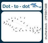 dot to dot game for kids vector ... | Shutterstock .eps vector #1995847688